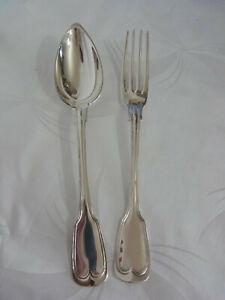 Besteck, Löffel und Gabel 800 Silber Paris, 114 Gramm