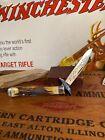 Vintage CASE XX 1977 BLUE SCROLL CHEETAH LOCKBACK Stag Bone Pocket Knife 3 DOT