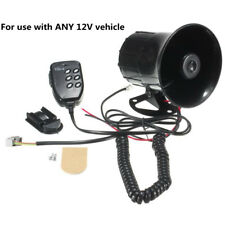 160dB Black 6 Sounds Auto Car Alarm Siren Security Alarm Sound Selector Speaker