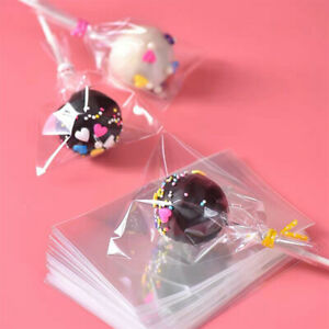 100PCS/Lot Transparent Opp Plastic Bags For Candy Lollipop Cookie Packaging