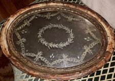 19th Century FRENCH Silver Gilt Wood Mirrored Plateau Tray