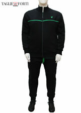 Black tracksuit trousers sweatshirt cotton plus size man. Big and tall.