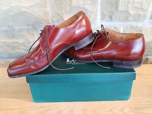 Loake - Mens Brown Derby Shoes UK 9 Handmade in England Apron Weave Detail