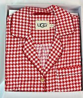 UGG AUSTRALIA WOMENS RAVEN SET HOUNDSTOOTH PAJAMA SET NEW IN BOX
