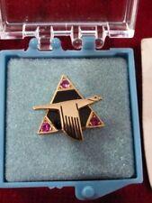 New ListingNorth American Aviation Service Award Tie Tack/Pin - 15 Year w/Rubies