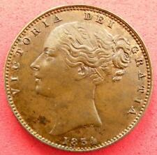 1854 - Victoria - Farthing - Young Head - UNC - SN8723