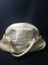 Petusco Embossed Genuine Claf Leather Bag Vintage  Camel Made In Spain