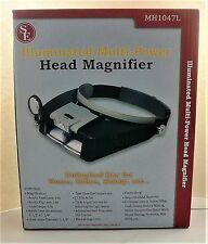 Magnifying Headwear, Lighted, Double Lens. Item# MP24SLCB. NEW.