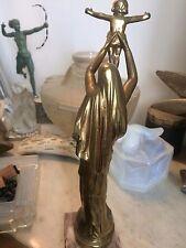 Belle Sculpture Vierge D'Albert en Bronze signee Roze