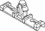 3x Rosebud wiring harness loom locking clips, mounts, tape on, like cable ties