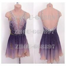 Competition Figure Skating Dress Girls Ice Skating Dress deep light pink dying
