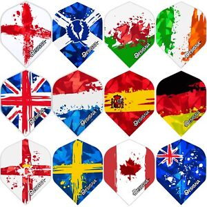 Designa Patriot Holographic Dart Flights Standard 1-10 Sets Flags Hologram