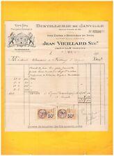 """JANVILLE (28) DISTILLERIE """"SUREAU & EBERENTZ / Jean VIEILLARD"""" en 1928"""