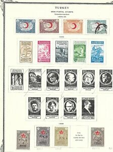 TURKEY 1930s.HINGED MINT AND USED ON 6 PAGES!