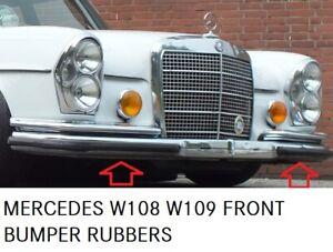 Mercedes W108 W109 Front bumper rubber set 2 pieces