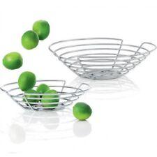 "Blomus WIRES Fruit Basket, 14"" Bowl Stand Display Holder Modern Stainless Steel"