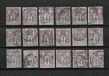 """FRANCE 1877 . Lot de 18 Classiques """" Type Sage """" N° 88 . Oblitérés ."""