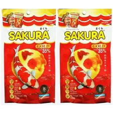 Sakura Gold Goldfish Fish Food Floating Pellet Koi Tropical Guppy Type Aquarium