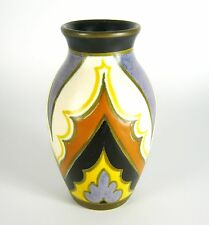 PZH Gouda Keramik Vase Plateelbakkerij Zuid-Holland Art Deco Style RARE 13,5cm