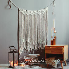 Boho Macrame Wall Hanging Cotton Woven Wall Tapestry Large Handmade Wedding Room