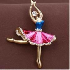 Spilla fermaglio ballerina danzatrice danza classica ballo brillantino regalo