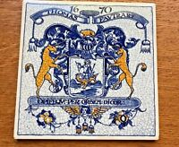 Vtg Delft Tile Thomas Fautrart Apothecary Pill Tile pharmacy unicorns