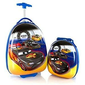 Disney Cars Luggage and Backpack Set for Kids - 18 Inch (Egg Shape)