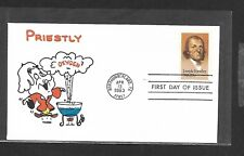 USA 1983 HAND PAINTED JOSEPH PRIESTLY RICHARD ELLIS ANIMATED FIRST DAY COVER