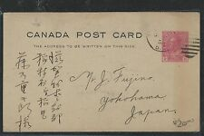 CANADA  (P2504B) KGV 1926 2C RED ADMIRAL PSC TO JAPAN