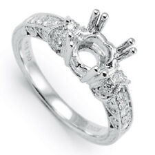 18K WHITE GOLD DIAMOND ENGAGEMENT RING SEMI-MOUNT