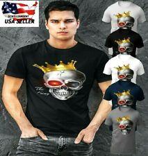 Skull Tee Shirt Men's Clothing|Skull T Shirt|Short Sleeve Graphic Tee|Skulls