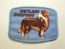 Vintage Shetland Sheepdog Dog Breed Embroidered Patch