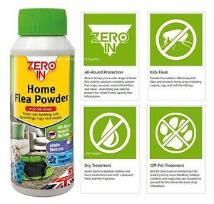 STV Zero In Home Flea Powder Killer Treatment for Carpets and Rugs