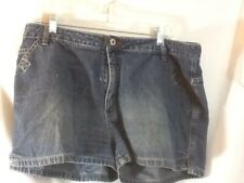 Nice Woman's Sz 15/16 ROUTE 66 Distressed Faded Denim Jean Shorts pre-owned CUTE