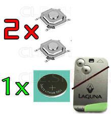 2 SWITCH Bouton poussoir Télécommande PLIP clé Renault LAGUNA   + PILE