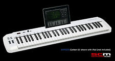 SAMSON CARBON 61 KEY USB MIDI KEYBOARD CONTROLLER with IPAD SLOT & SOFTWARE