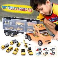 Toy Car Carrier Transport Trucks Set Play Vehicle Gift for Kids Boys Toddlers