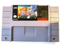 UTOPIA Super Nintendo SNES Game - Tested - Working - Authentic!