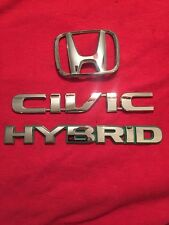2004 2005 Honda Civic Hybrid Rear Chrome Emblem Logo (976)