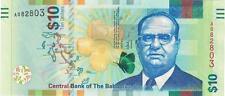 A SAISIR     BILLET   10  DOLLARS   BAHAMAS      NEUF   2016      !!!!    UNC .