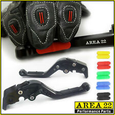 Area 22 Suzuki GSR750 11- 2016 Comfort Rubber Grip Adjustable Short Levers Black