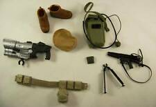 "12"" GI JOE MILITARY ACTION FIGURE DOLL ACCESSORIES WEAPONS SHOES BOOTS LOT G.I."