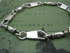 ACTS Sterling Silver Fishers Of Men Bracelet (Hand Made) 7.5 Inches