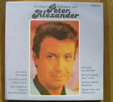 Peter Alexander Vinyl Schallplatte Amiga Schlager Melodien