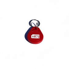 10 NFC ROSSO ABS Portachiavi/Portachiavi NXP Ntag 213 Samsung Android