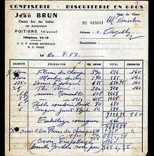"""POITIERS / LES BUISSONNETS (86) CONFISERIE & BISCUITERIE """"Jean BRUN"""" en 1953"""