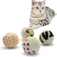 Cat Toy Play Ball Chewing Rattle Scratch Catch Pet Kitten Braid Balls 4Pc Ic1