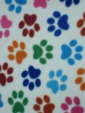 Polar fleece anti pill fabric Premium Quality soft material animal paws print