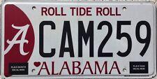 GENUINE Alabama University Roll Tide Roll License Licence Number Plate CAM 259