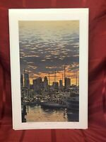 """""""Lake Union Tie Up"""" by Byron Birdsall Hand Signed/Numbered Print"""